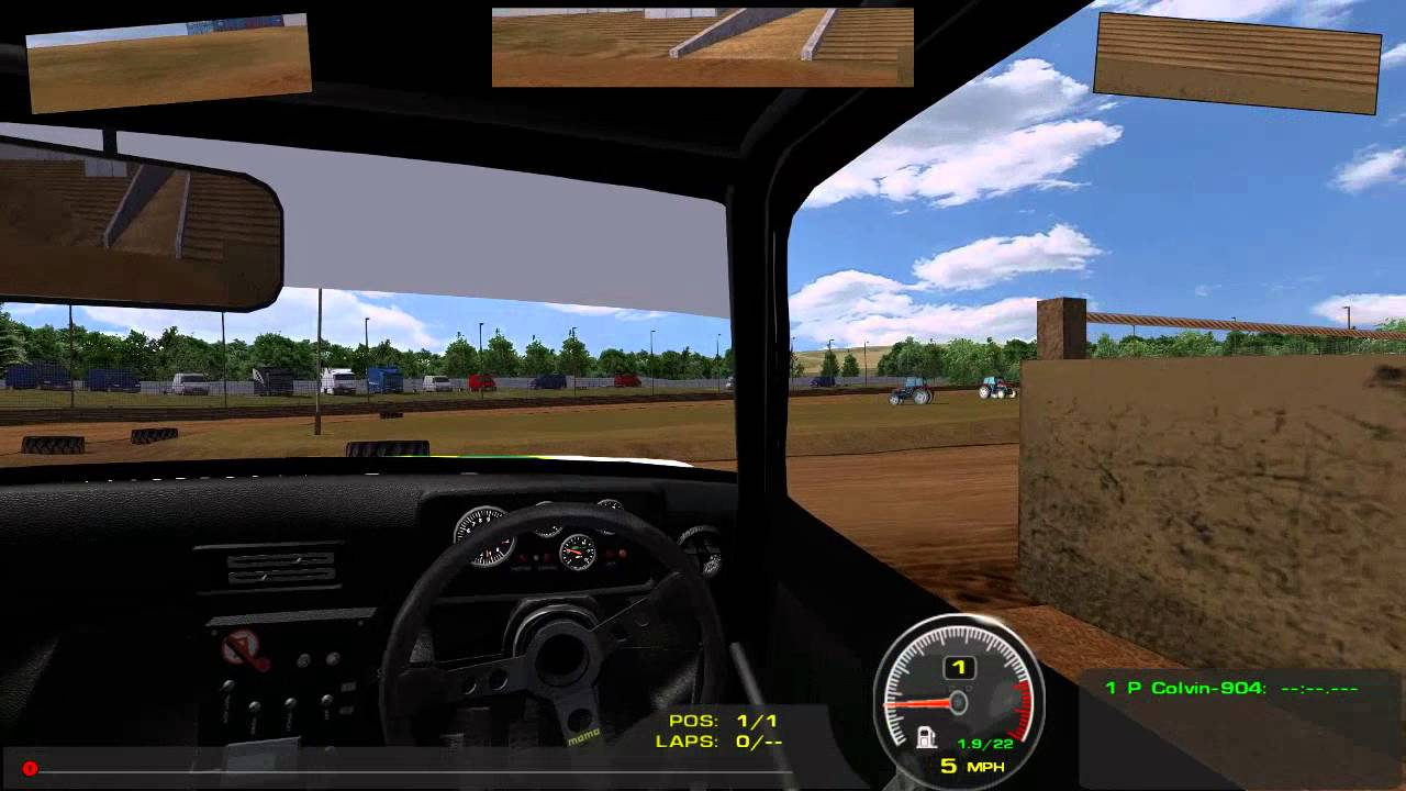 rFactor TrackHat OpenTrack Head Tracking Demo by Eaton9Speed