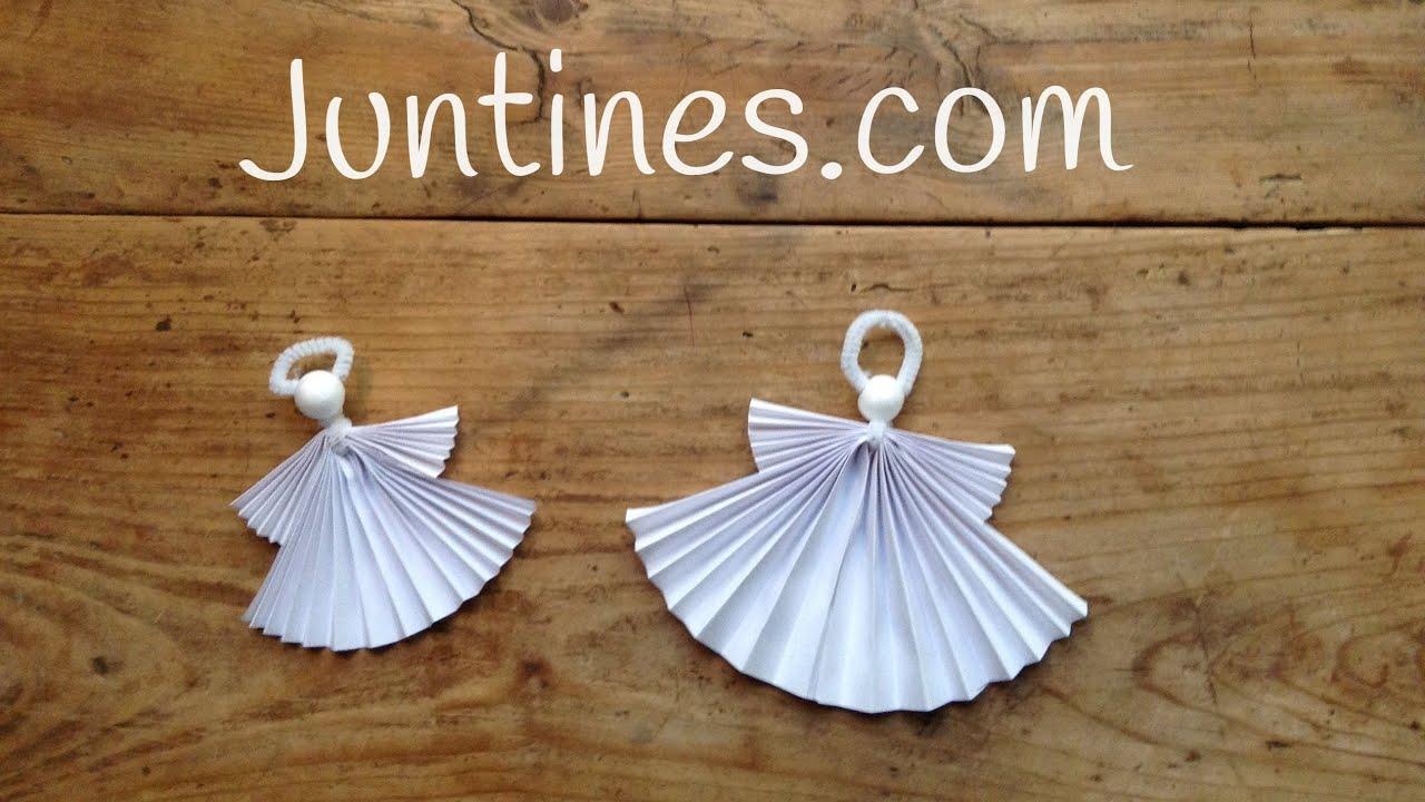 Ángel de origami fácil para niños - YouTube