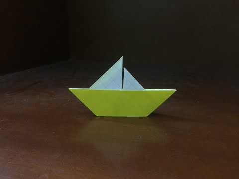 Origami paper sailboat - how to make sailboat easy