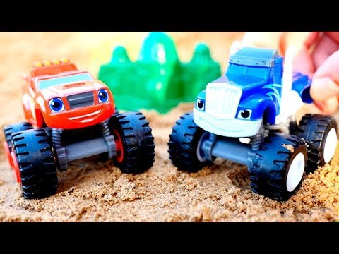 Blaze and the monster machines play hide and seek game.