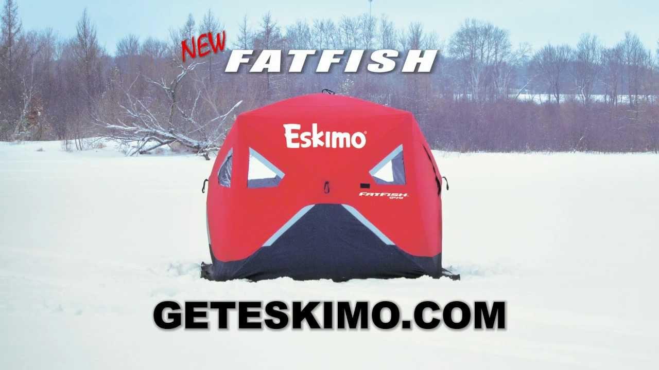 The Eskimo FatFish - Wide-Bottom Ice Fishing Shelter