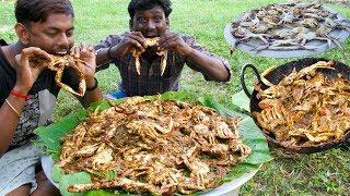 KING of CRAB Gravy Prepared By Grandpa | NANDU KULAMBU | Crab Village food recipe | Village Cooking