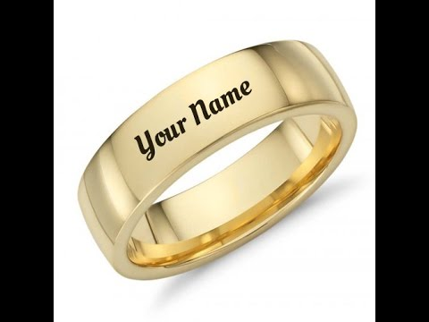 how to write name on wedding ring YouTube