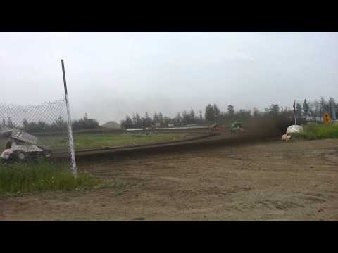 Sprint car action at GFRA 6/28/13