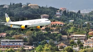 takeoff and landing in Corfu(easy Jet - Monarch - Thomas Cook., 2014-09-21T07:50:33.000Z)