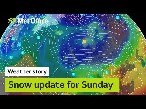 Snow update for Sunday