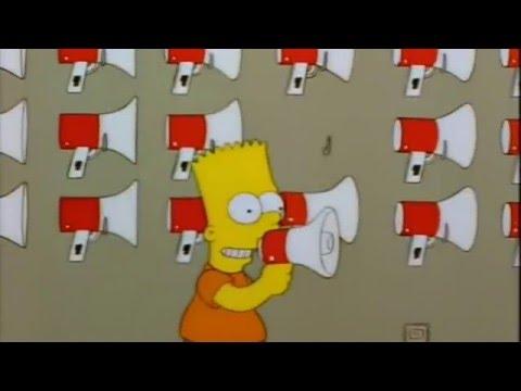 The Simpsons   Bart's Megaphone Testing Adele Hello