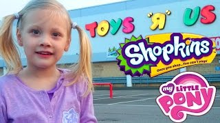 TOYS R US Coventry UK TOY HUNT My Little Pony Shopkins Shopping trip 2015