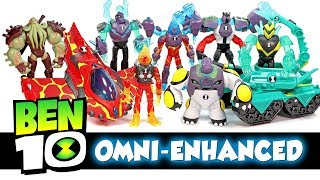 Every Omni-Enhanced Ben 10 Action Figure w/ Heatblast Diamondhead Four Arms Cannonbolt & Vilgax