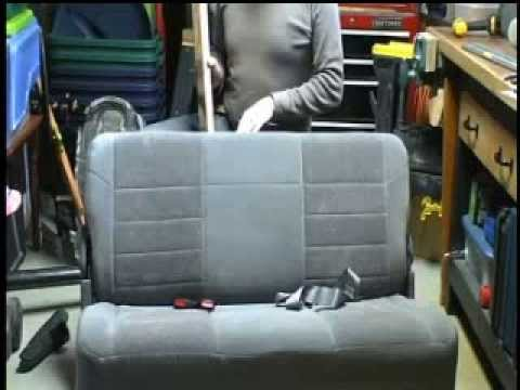 Installing headrests in bench seat of Ford Excursion - YouTube
