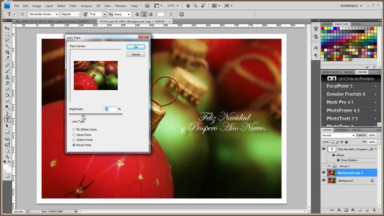 Como dise ar una tarjeta de navidad en photoshop youtube - Disenar tarjetas de navidad ...