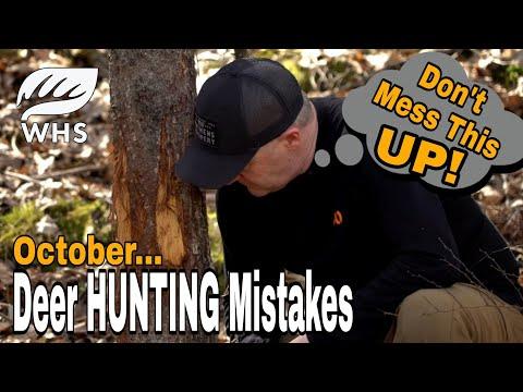 October Deer Hunting Mistakes