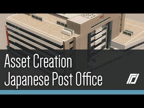 Cities Skylines - Asset Creation - Japanese Post Office