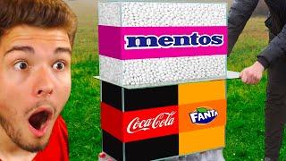 EXPERIMENT Coca Cola VS. Mentos & Fanta VS. Mentos