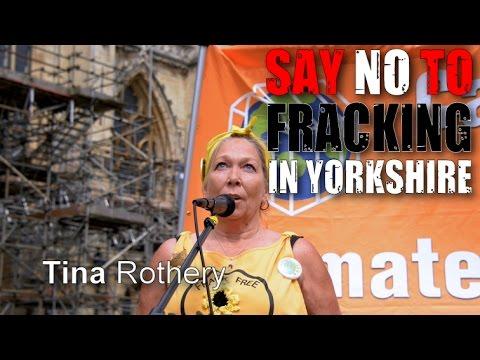 Yorkshire Anti-Fracking Rally: Tina Rothery