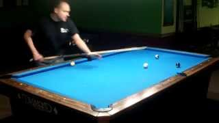 10 Ball Pool Game Run Out on 9 Foot Pool Table