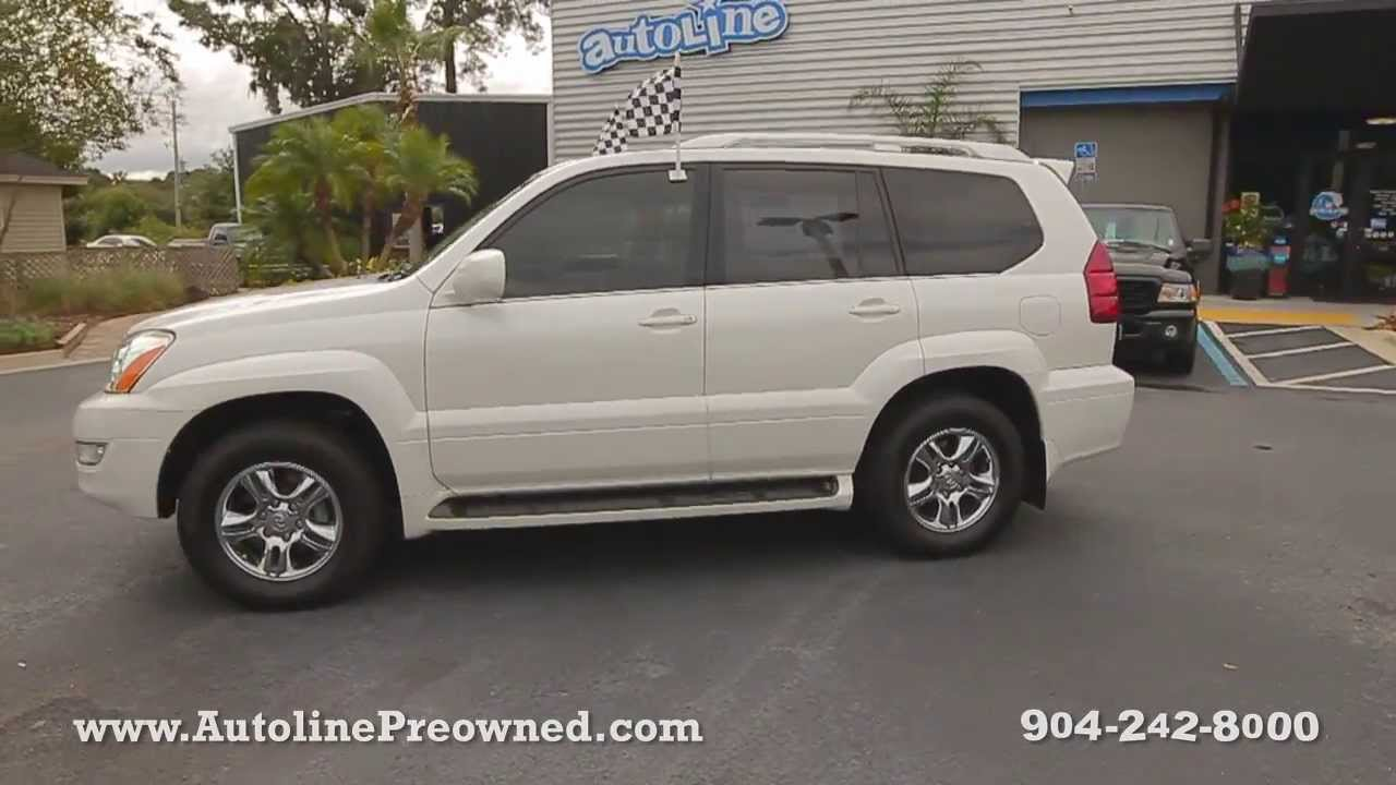 autoline preowned 2006 lexus gx 470 for sale used walk around review test drive jacksonville. Black Bedroom Furniture Sets. Home Design Ideas
