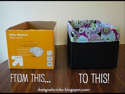 Diy diaper box into a gorgeous storage box youtube for What to do with old mailbox