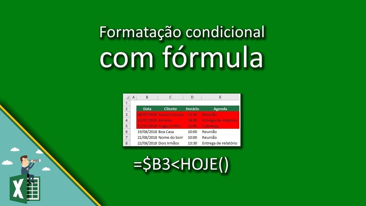 Formatação condicional com fórmula • Função Excel
