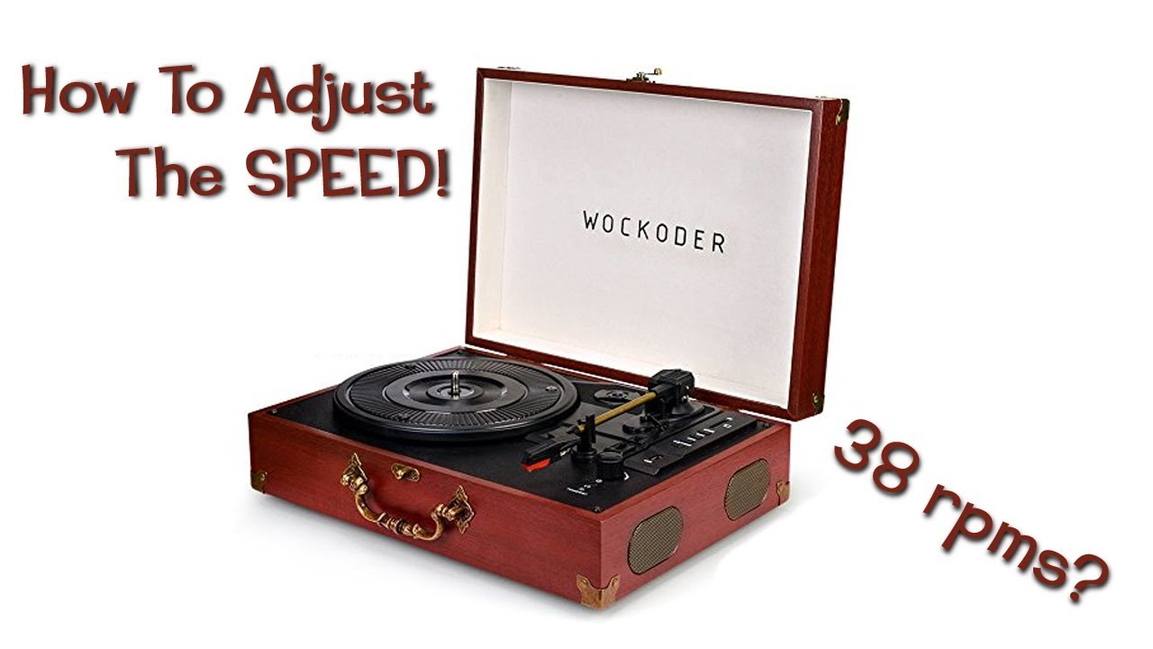 How To Fine Tune The Speed On Portable Vinyl Record Player Crosley
