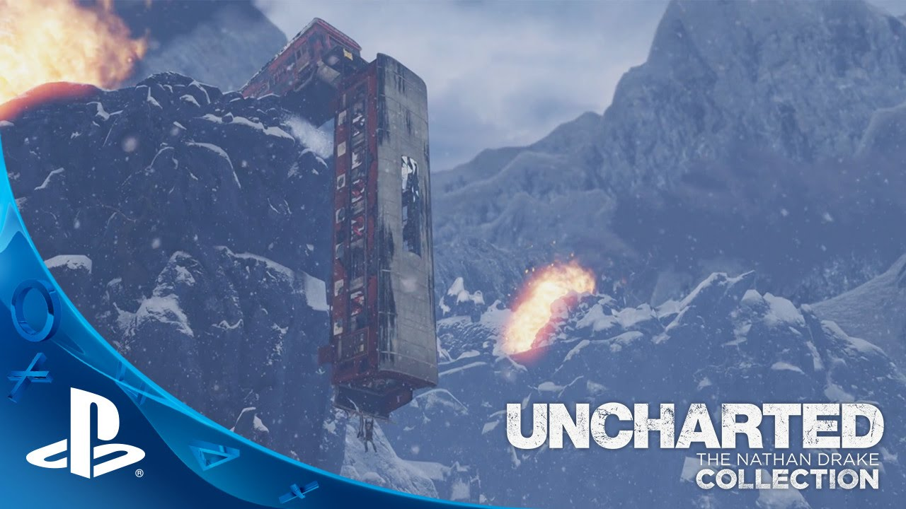 UNCHARTED: The Nathan Drake Collection (10/9/2015) - #UnchartedMoments (Train Wreck) | PS4