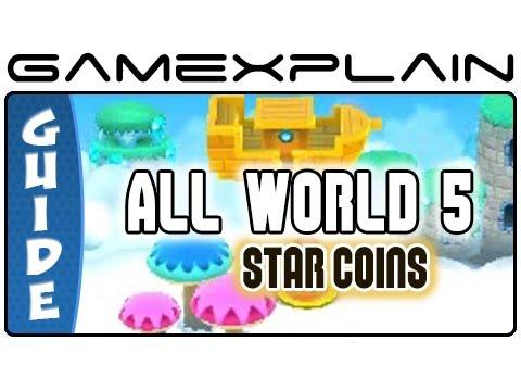 New Super Mario Bros  2: World 5 Star Coins (All 33!) Guide & Walkthrough