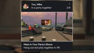 Join Friends in VR with Oculus Rooms and Parties