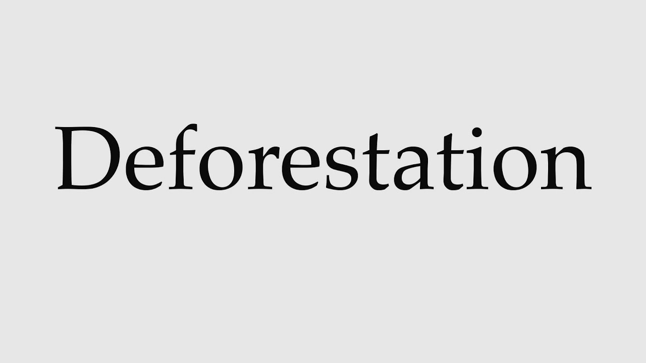 How to Pronounce Deforestation