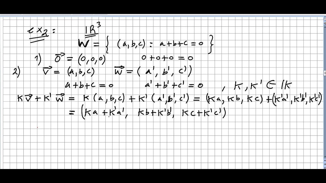Linear Algebra 118, Subspace of a Vector Space exercises 2