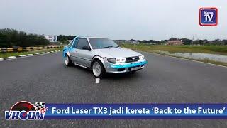 Modifikasi Ford Laser TX3 jadi kereta Back To the Future