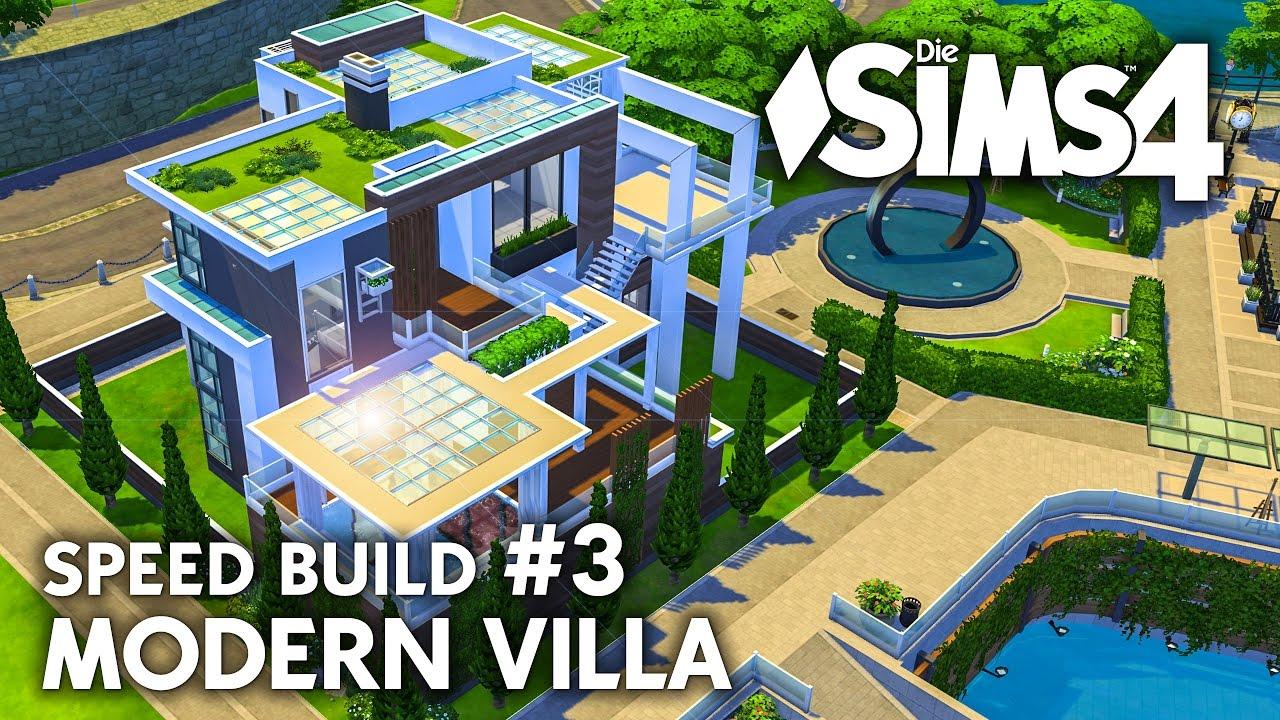 Wohnzimmer | Die Sims 4 Haus bauen | Modern Villa #3 - Speed Build ...