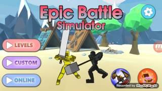 Ligue sur battle epic simulator j2