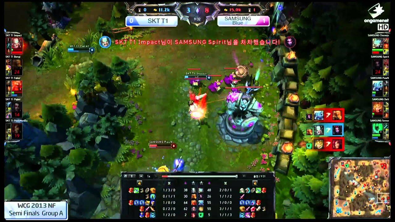 lol wcg_PawN Triple Kill vs SKT1, WCG Korea LoL Semifinals - YouTube