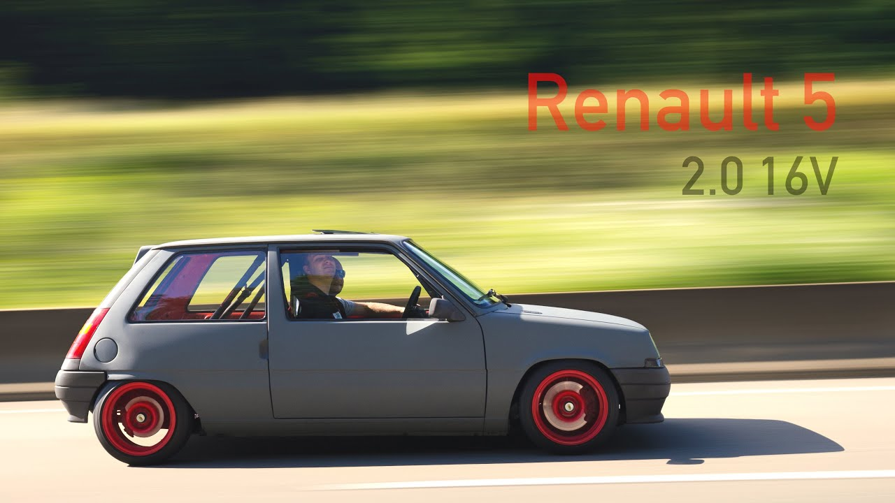 0-180km/h Renault 5 Campus Stage II F4R 730 R5 RS