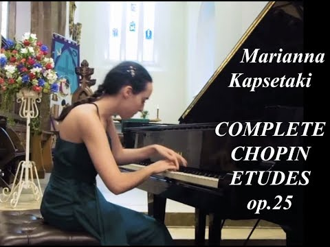 Chopin 12 Etudes op.25 (Complete) - Marianna Kapsetaki - Live Piano Recital in Oxford [HD]