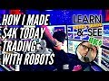 🔴 Robotic Assisted Trading Systems | Automated Trading Software | How I made 4k today