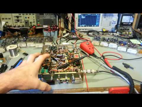 Importance of letting your radio warm up before doing a transceiver alignment.