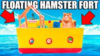 Hamster BOX FORT Boat On WATER! 🐹💧