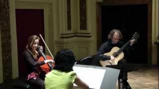 """N. Paganini: Terzetto, II. Minuetto (Allegro vivace) - """"Boccherini Ensemble"""""""