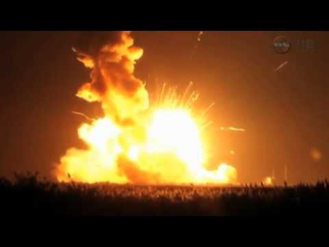 Commercial space supply ship explodes after liftoff