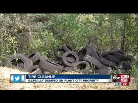 Business pitches in to help man clear 1,500 illegally dumped tires off his property