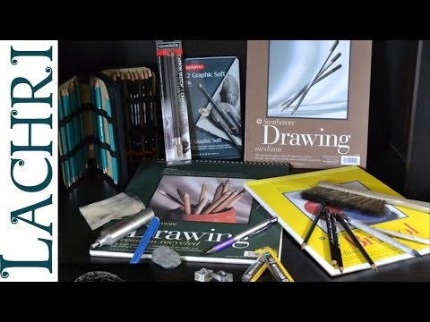 My top 7 favorite graphite pencil drawing supplies - Supply list from Lachri