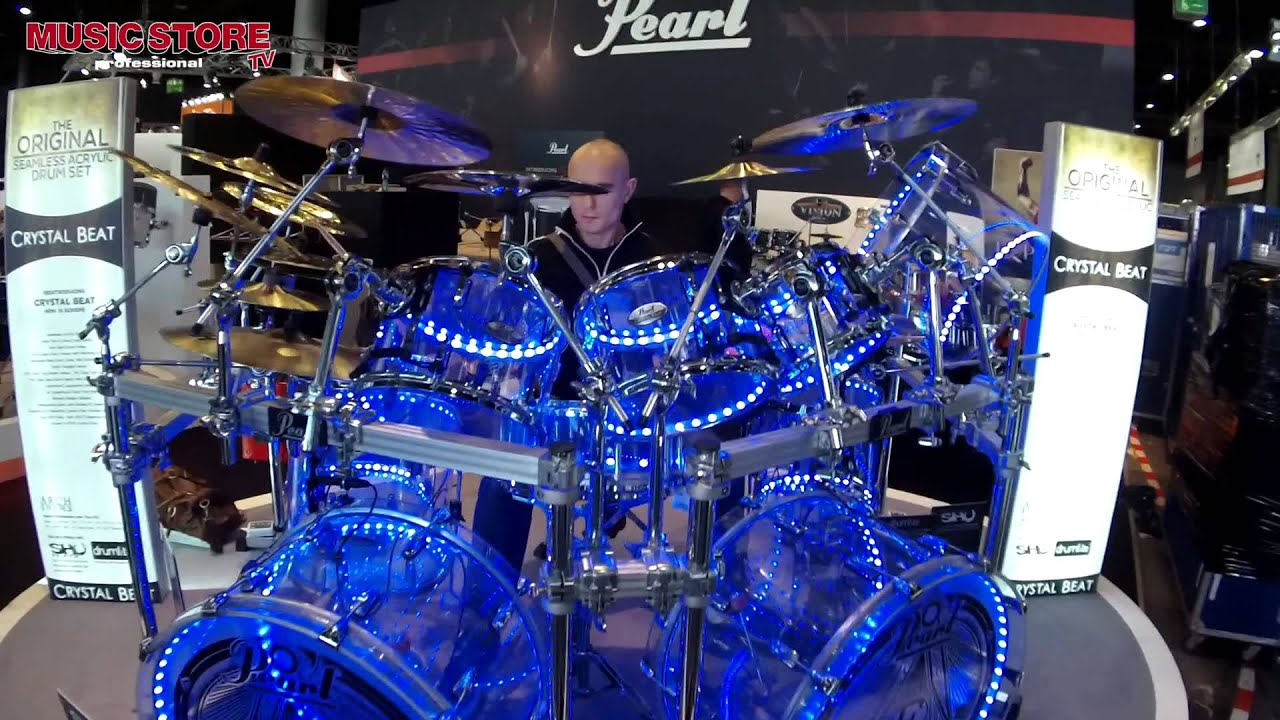 Pearl Crystal Beat Seamless Acrylic Drum Set Live Demo