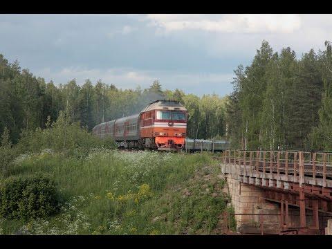 ТЭП70 0576 с поездом № 539 Кострома - Анапа, перегон Бельково - Кипрево Северной ж.д.