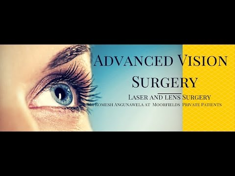Laser eye surgery, cataract and lens surgery at Moorfields Private Eye Hospital