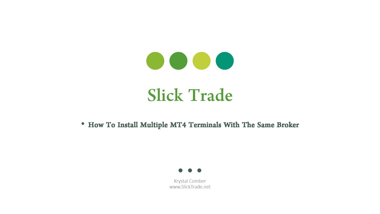 How To Install Multiple Mt4 Terminals With The Same Broker Youtube