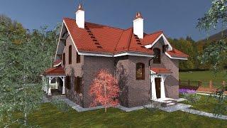 видео проекты кирпичных домов и коттеджей