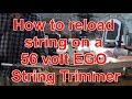 How To Reload String on a 56 Volt EGO String Srimmer