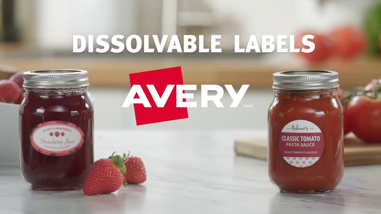 avery dissolvable labels youtube