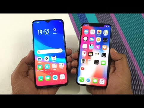 Oppo R17 Pro vs iPhone X Speed Test